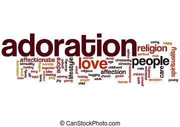 adoración, palabra, nube