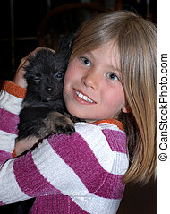 Adoring Her Puppy
