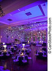 adornado, beautifully, lugar, boda