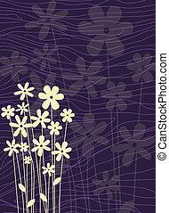 adornado, flor, plano de fondo
