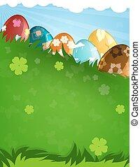 adornado, huevos de pascua
