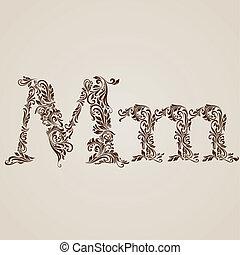 adornado, m, carta