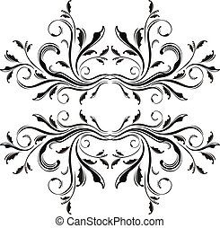 adornment frame - isolated floral frame