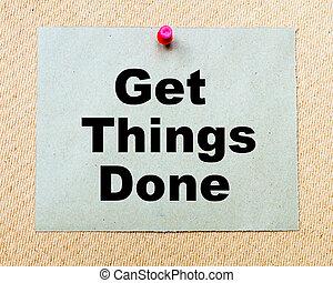 adquira, coisas, feito, escrito, ligado, nota papel