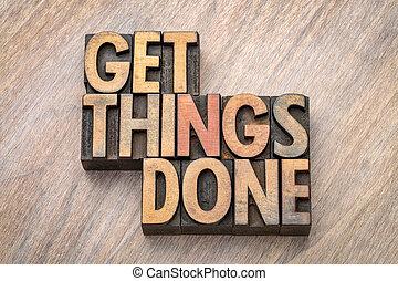 adquira, coisas, feito, -, palavra, abstratos, em, madeira, tipo