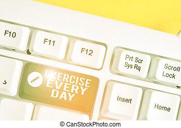 adquira, teclado, papel cópia, movimento, corporal, cada, branca, acima, day., negócio, energeticamente, palavra, ajustar, exercício, vazio, saudável, space., nota, escrita, texto, conceito, tecla, fundo, pc, ordem
