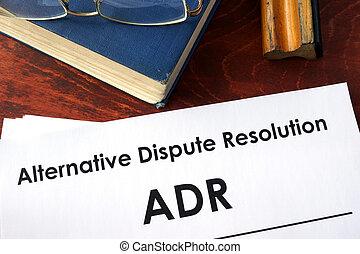 (adr), alternativa, resolución, disputa