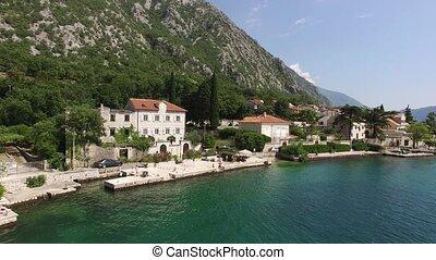 adr, villa, ljuta., kotor, baie, montenegro, village