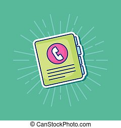adress book icon - address book icon over turquoise...