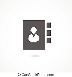 Adress book icon - Adress book vector icon on white...