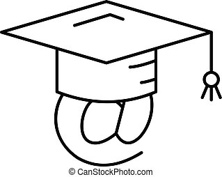 Adress graduated icon, outline style - Adress graduated...