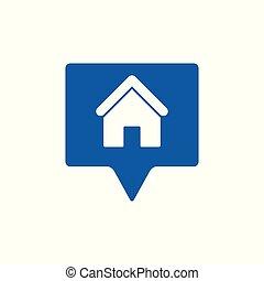adresse, icon., maison, emplacement, icône