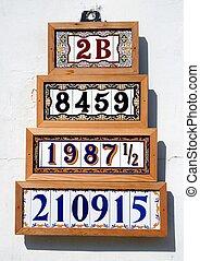 adresse, vente, nombres