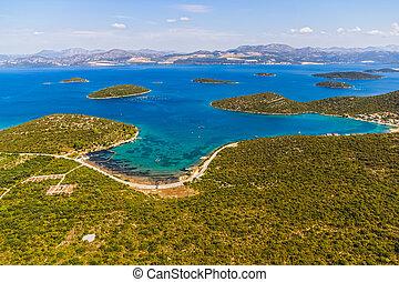 adriático, paisagem, -, peljesac, península, em, croácia