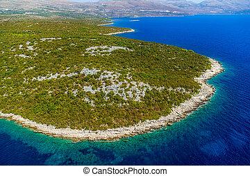 adria, landschaftsbild, kroatien