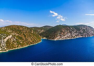adria, landschaftsbild, peljesac, halbinsel, in, kroatien