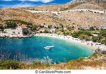 adria, sandstrand, kroatien, meer