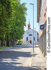 Adria, Italy - June, 29, 2016: street in a center of Adria,...