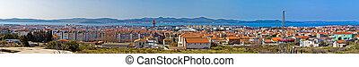 Adriatic city of Zadar panoramic view