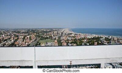 Adriatic coast from the top of a skyscraper