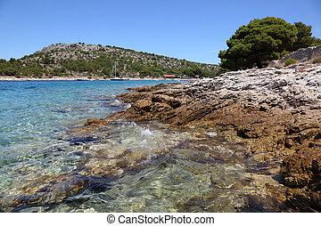 Adriatic coast in Croatian resort Murter. Photo taken at 3rd of July 2011