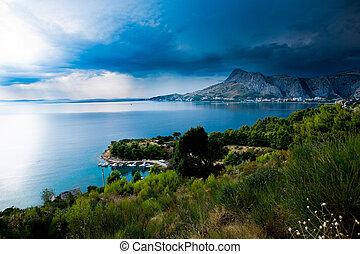 Adriatic coast near Split in Croatia