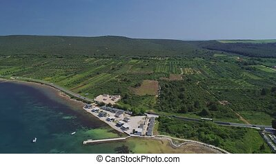 Adriatic coastline aerial - Aerial view of the coastline in...