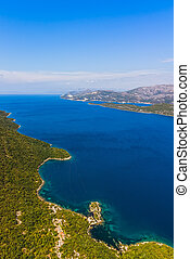 Adriatic landscape - Peljesac peninsula in Croatia - Channel...
