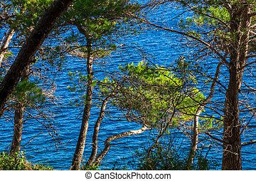 Adriatic Sea bay summer holiday tranquil scenery, Croatia