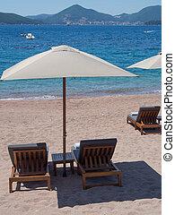 Adriatic sea beach on a sunny day