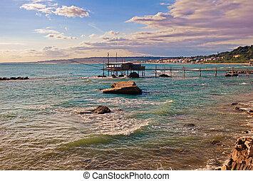 Adriatic sea coast in Chieti, Abruzzo, Italy - Adriatic sea ...