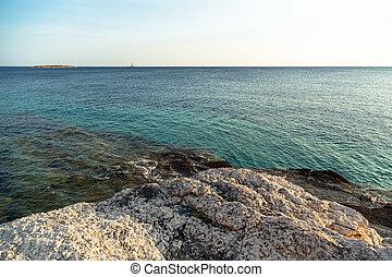 Adriatic Sea coastline in Croatia