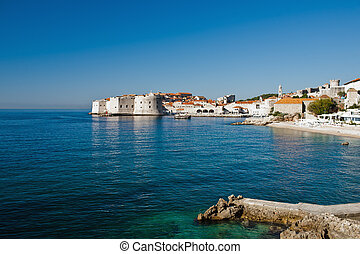 Adriatic sea, Dubrovnik old town, Croatia, Europe