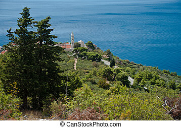 Adriatic Sea in Dalmatia - Adriatic Sea, view from Igrane, ...