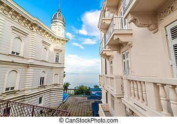 Adriatic sea, Opatije, Croatia - romantic view Adriatic Sea...