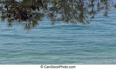 Adriatic sea shore background - The small waves on the...