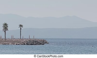 Adriatic sea tourist fisherman - Beautiful landscape with...