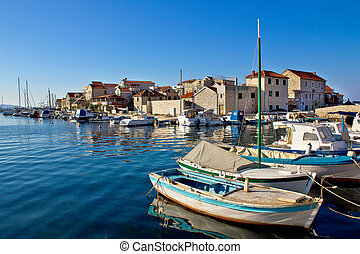 Adriatic town of Tribunj waterfront, Dalmatia, Croatia