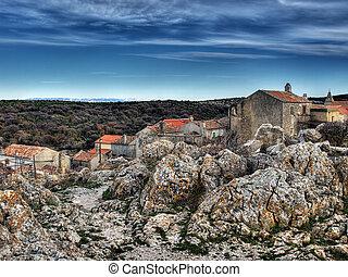 "Adriatic village ""Lubenice"" - Lubenice, island Cres. ..."