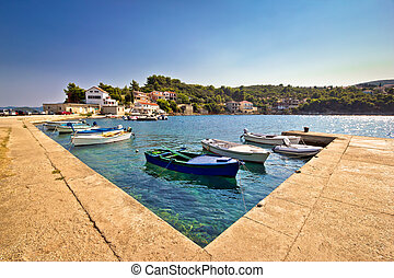 Adriatic village of Savar on Dugi Otok island, Dalmatia, Croatia