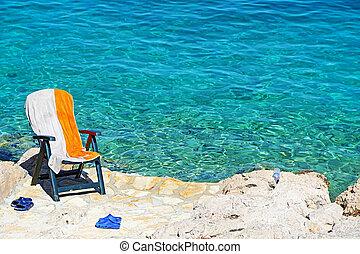 adriatisch, strand, in, kroatië
