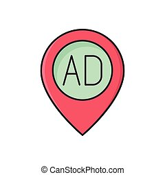 ads  flat color icon
