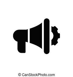 ads glyph flat icon
