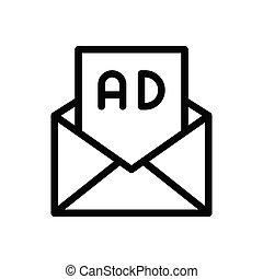 ads thin line icon