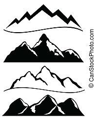 adskillige, bjerge
