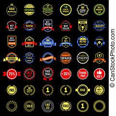 adskillige, Emblemer