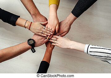 adskillige, folk, hægt, æn, teamwork, selskab, team.