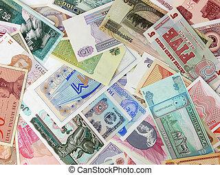 adskillige, valuta