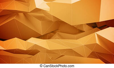 Adstract geometric shapes in motion. Orange.