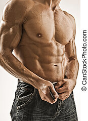 bodybuilder - adult; alone; athlete; athletic; attractive;...